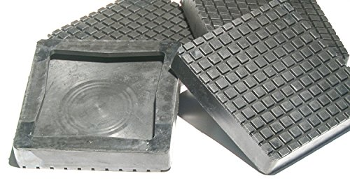Auto Lift Parts - BendPak or Danmar Square Rubber Replacement arm Pads (Slip on Style) for 2 Post Lifts - Set of 4 - New and Improved!