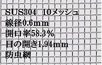 最安値 ステンレス金網 (10メッシュ)切り売り (200mm×400mm)