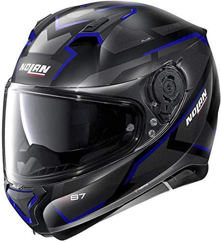 Nolan N87 Plus Overland N-Com Helm Schwarz Matt/Blau L (61)