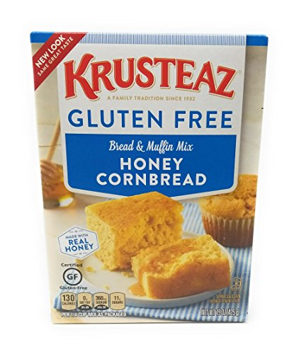 Krusteaz, Gluten Free, Honey Cornbread Mix, 15oz Box (Pack of 4)