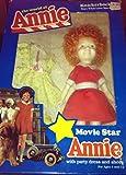 The World of Annie Movie Star ANNIE Doll w Party Dress & Shoes - Little Orphan Annie (1982 Knickerbocker) by Unknown