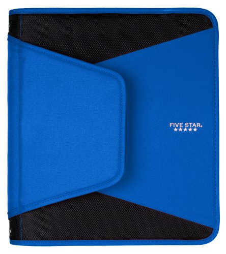 Five Star 1-1/2 Inch Zipper Binder, 3 Ring Binder, 3-Pocket Expanding File, Durable, Color Selected For You (28012)