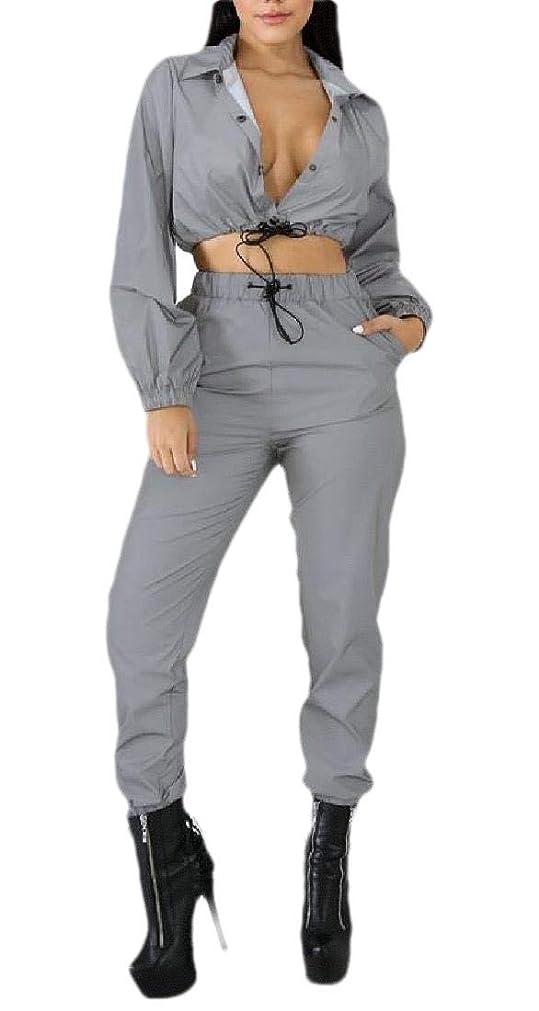 法医学四回段落女性ジュニアコートジャケット2ピースパンツボタントラックスーツセット