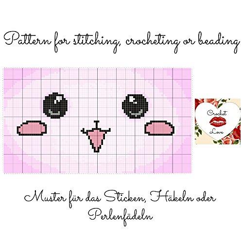 Crochet Love - Chibi: Pattern for stitching, crocheting or beading - Muster für das Sticken, Häkeln oder Perlenfädeln (English Edition)