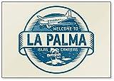 Imán para nevera con texto en inglés 'Welcome to La Palma', Islas Canarias