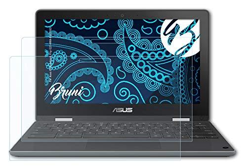 Bruni Schutzfolie kompatibel mit Asus Chromebook Flip C214MA-BW0163 Folie, glasklare Bildschirmschutzfolie (2X)