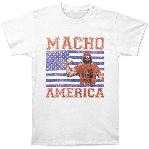 LYYJY Macho Man Randy Savage Macho America Mens White T-Shirt