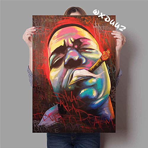 Sakkdaull Rapper Americano Hip Hop The NotorioAdult Ölfarben für Kinder Anfänger Erwachsene mit einem Pinsel aus Leinen, 40 x 50 cm, DIY nach Zahlen