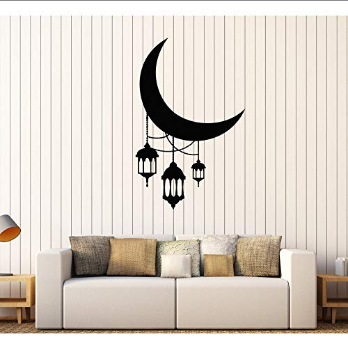 Makeyong Crescent maan lantaarn verlichting Arabische Stickers voor kinderdagverblijf Verwijderbare huisdecoratie Vinyl muurstickers slaapkamer Hot Sale57X89Cm