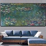 decoración Lienzo de loto de agua póster artístico pintura abstracta impresión imágenes artísticas de pared para la decoración del arte de la lona de la sala de estar Cartel decoración pared arte