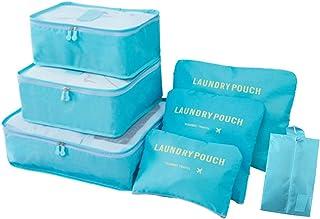 Organizer per valigie 7 pezzi Organizzatore di bagagli da viaggio con sacchetto di stoccaggio impermeabile Scarpa sacchetti di compressione