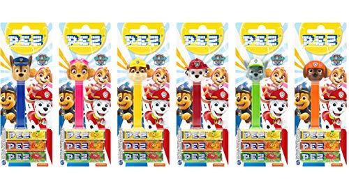 PEZ set de dispensadores La Patrulla Canina (6 dispensadores con 3 recargas de caramelos PEZ de 8,5g...