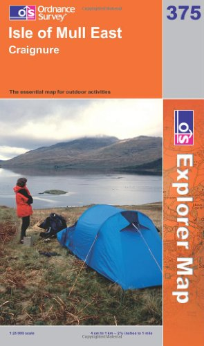 OS Explorer map 375 : Isle of Mull East