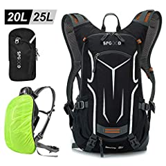 SPGOOD Bicycle Backpack 20L for Women & Men with Rain Protection Cap Cover Motorcycle Cycling Backpack Bike Backpack Mountain Bike Sports Backpack for Bicycle Hiking Camping MTB (Grey-Black) SPGOOD Bicycle Bicycle Backpack 20L for Women & Men with Rain Protection Cap Helmet Cover Motorcycle Cycling Backpack Bike Backpack Mountain Bike Sports Backpack for Bicycle Hiking Camping MTB (Grey-Black) SPGOOD Bicycle Bicycle Backpack 20L for Women & Men with Rain Protection Cap Helmet Cover Motorcycle Cycling Backpack Bike Backpack Mountain Bike Sports Backpack for Bicycle Hiking Camping MTB (Grey-Black) SP
