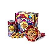 Chupa Chups Gift Box, Confezione Regalo con Flower Bouquet Chupa Chups da 19 Lollipop e Mini Latta Salvadanaio da 16 Lollipop, 35 Lecca Lecca Gusti Assortiti alla Frutta