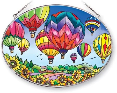 Amia 41253 Up Very popular and Away Over item handling ☆ Hot Air Balloons Sun by 2-Inch Oval 9 6-1