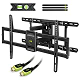 "USX MOUNT Tv Wall Mount Bracket with Articulating Arms for 42"" 80"" Flat Screen Led LCD 4k Tv, Full Motion Tilt Swivel Tv Mounts with Max Vesa 600x400mm, Weight Capacity 99lbs Up to 24"" Wood Stud by 4k televisions May, 2021"