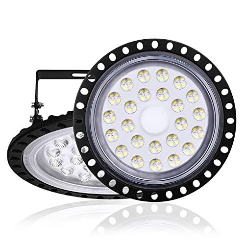 100W UFO LED High Bay Light,13000 Lumen Factory Warehouse Industrial Lighting,IP67 LED Commercial Bay Lights- High Bay Lighting for Garage Factory Gymnasium Basement Parking,LED Shop Lights