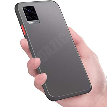 Pingin Smoke Case for Vivo V20 Pro Back Cover Matte Surface Back Panel with TPU Edges Perfect to Protect Vivo V20 Pro with Case On (Vivo V20 Pro Smoke Case, Black)