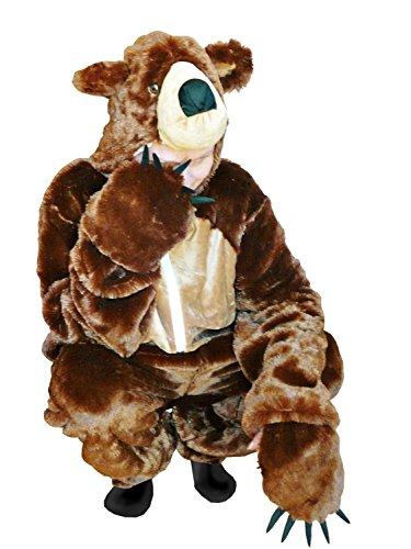 PUS Braun-Bär Kostüm-e, F67 Gr. L Kat. 1, Achtung: B-Ware Artikel, Bitte Artikelmerkmale lesen! Frau-en und Männer Tier-e Fasnacht-s Fasching-s Karneval-s Geburtstag-s Geschenk-e
