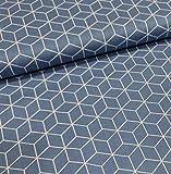 Schickliesel Baumwollstoff Meterware Waben (Jeansblau)