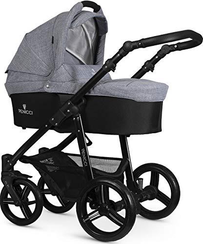 Venicci Soft Black Chassis - Sistema da viaggio 2-in-1, colore: Grigio