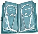 NALCY Ferri Circolari, 11 Pezzi 80cm Acciaio Inox Circolare Uncinetto Ferri dell'ago Set, 1.5 mm a 5.0 mm per Cucire Strumenti