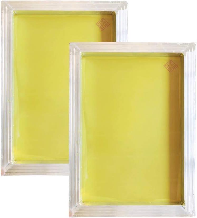 2 Pack Silk Screen Max 56% OFF Printing Screens 350 Aluminum cm Frames- Overseas parallel import regular item 2030