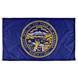 Vispronet - Nebraska State Flag - 3ft x 5ft Knitted Polyester, State Flag Collection, Made in The USA (Flag Only)