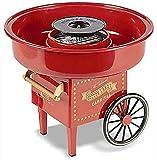 zyl Mini Fabricante de algodón de azúcar para niños, Kit de máquina de algodón de azúcar de encimera Dura eléctrica Vintage, Carrito de Regalo Creativo, para Fiesta Familiar, Rojo