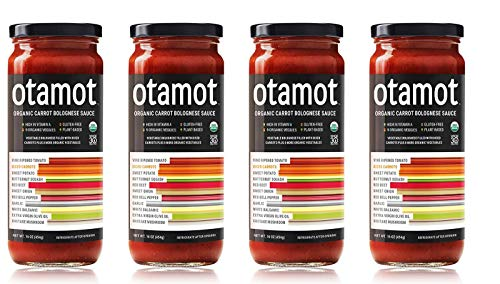 Otamot Organic Carrot Bolognese Sauce (4 Pack) – 9 Organic Veggies, No Sugar Added, Non-GMO, Vegan, Whole30 Approved