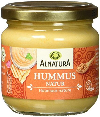 Alnatura Bio Aufstrich Hummus natur, vegan, 6er Pack (6 x 180 g)