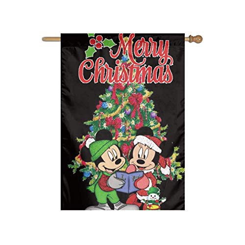Stockdale Mouse Reading Books Christmas Garden Flag Holiday Courtyard Decoration for Indoor/Outdoor