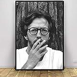 QAQTAT Eric Clapton Musik Sänger Poster Wandkunst Bild