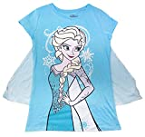 Material - 60% Cotton and 40% Polyester Features a Removable Cape That Attaches to the Shirt with Velcro Cape Has a Snowflake Pattern Design Shirt Has an Elsa Design with Glitter Details This is Perfect for a Trip to Disney, Everyday Wear, or Giving ...