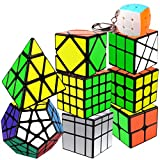Coolzon Zauberwürfel Set, 9 Stück Speed Cube Set 2x2 3x3 4x4 Pyraminx Megaminx Mirror Skewb Fenghuolun Klein Speed Cubing, Magic Cubes für Kinder Erwachsene Anfänger