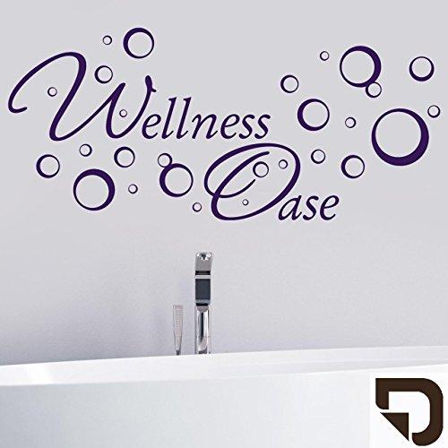 DESIGNSCAPE® Wandtattoo Wellness Oase mit Seifenblasen 90 x 41 cm (Breite x Höhe) braun DW803023-M-F9