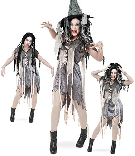 Zombie vestito da Halloween, da donna, 1 pz. Costume di carnevale, motivo: strega magica, taglia 36 - 42