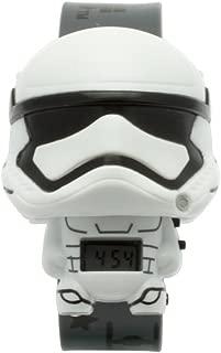 BulbBotz Star Wars 2021128 Stormtrooper Kids Light up Watch | White/Black | Plastic | Digital | LCD Display| boy Girl | Official