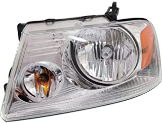 Headlight Compatible with 2004-2008 Ford F150 with Chrome Trim New Body Style CAPA Driver Side