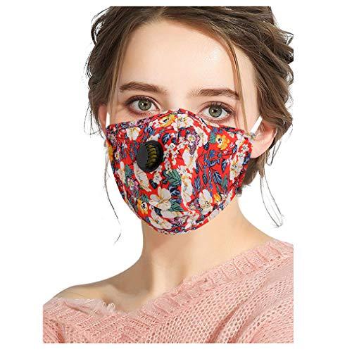 Eaylis 1 Stück Multifunktionstuch Weich Face Mask Waschbar Halb Bandana Atmungsaktiv Mundbedeckung Anti-Staub Staubdichte für Außenbereich Halstuch Schlauchschal für Damen Herren