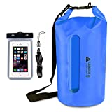 Leader Accessories Heavy Duty Vinyl Waterproof Dry Bag for Boating Kayaking Fishing Rafting Swimming Floating and Camping (Blue w/Window, 30L)
