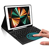 iPad Keyboard Case 9.7' Fit for iPad 6th Generation 2018, 5th Gen 2017, iPad Air 2 & Air, iPad Pro 9.7, Wireless Bluetooth Touchpad Keypad, Protective Case with Pencil Holder