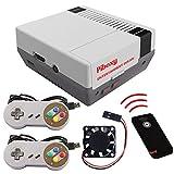 MakerFun Piboxy NES Case con Ventilador y botón de reinicio y Apagado Seguro y Mando a Distancia IR para Raspberry...