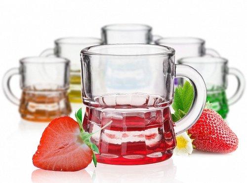 Vasos de Shot, Shooter, Mini jarra fondo 6colores, Chopine/Vodka/Tequila