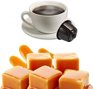 32 Capsules Cappuccino Caramel Compatible Nescafé Dolce Gusto - Boisson Soluble Compatible avec la Machine à Café Dolce Gusto