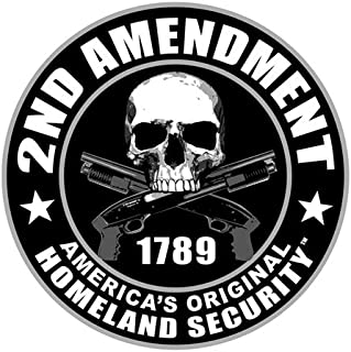 "Licensed Originals 2nd AMENDMENT, Premium Quality - Funny Bikers Motorcycle HELMET Sticker DECAL - 2.75"""