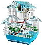 HLZY Jaula de pájaros de Parrot de Vuelo Grande para De Jaula de Vuelo Creative Pet Supplies Parrot Canario Pájaro Jaula Metal Pearl Bird Cage Hundido