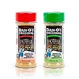 Dan-O's Seasoning Starter Pack - All Natural, Low Sodium, No Sugar, No MSG - Two (2) 3.5 oz Bottles