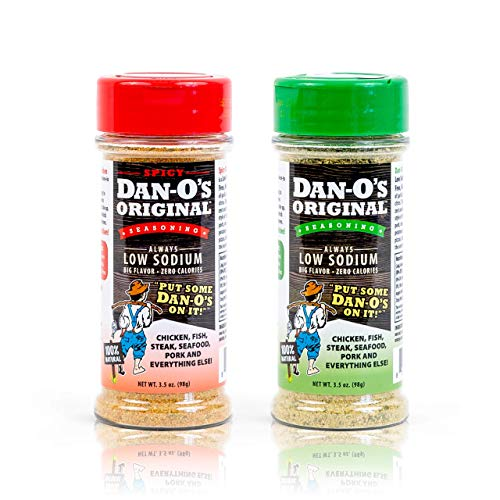Dan-O's Seasoning Starter Pack - All Natural, Low Sodium, No Sugar, No MSG - Two (2) 3.5 oz Bottles